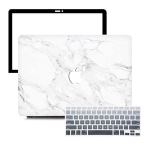 MacBook Case Protective Screen Package - Alabastrine Marble - Slick Case