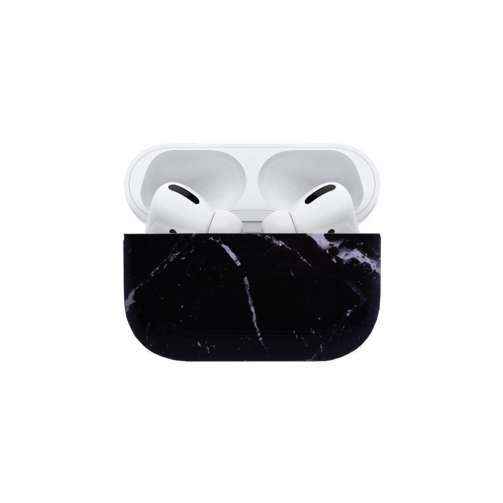 Best AirPods Case Protective Cover - AirPods Case Protective Cover - Black Marble AirPods Pro