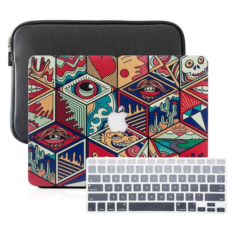 Macbook Case Sleeve Package - Chinese Sculpting Rhombus - Slick Case