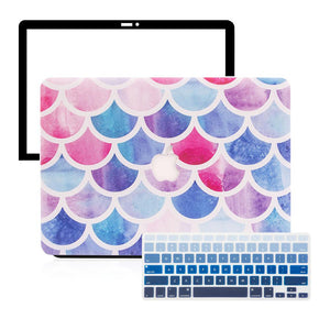 Macbook Protective Package [A1534] MacBook 12' / Gradient Keypad - Blue MacBook Case Protective Screen Package - Chromatic Paint