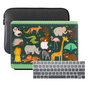 MacBook Case Sleeve Package - Cute Animal Party