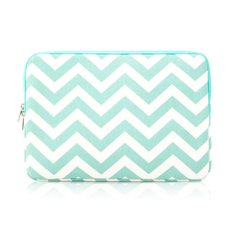 Laptop Sleeve - Zigzag Tiffany Blue