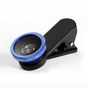 Accessories Black 3 in 1 Mini Clip-On Lens