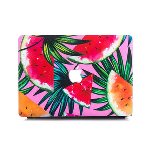 Macbook Case - Watermelon Palm Leaves