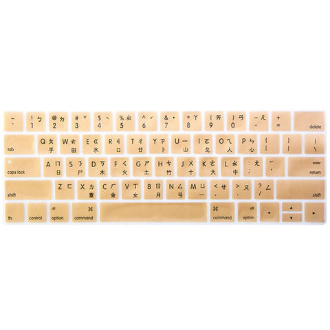 Multi-Color MacBook Keypads - Taiwanese - Gold