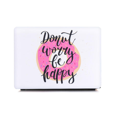 Macbook Case - Donut Worry Be Happy
