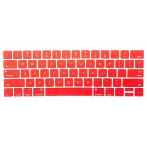 Multi-Color Macbook Keypads - Red - Slick Case