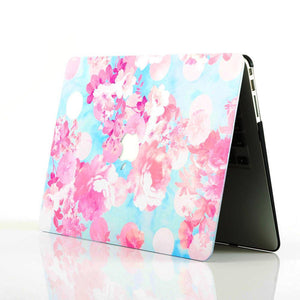 Macbook Protective Package [A1370/A1465] MacBook Air 11' / Gradient Keypad - Pink MacBook Case Protective Screen Package - Sakura Blossoms