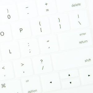 Multi-Color Macbook Keypads - Snowy White