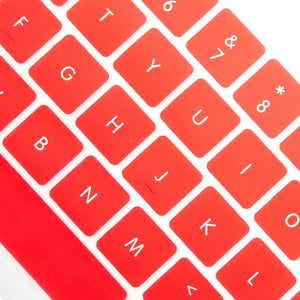 Macbook Keypad Macbook Pro 13'/15' with Touch Bar / Red Multi-Color Macbook Keypads - Red