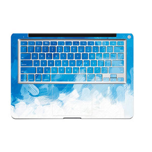 MacBook Decal - Blue Strokes | Slick Case