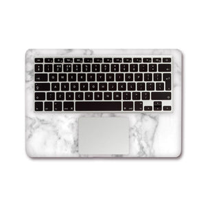 MacBook Decal - Silk White Marble