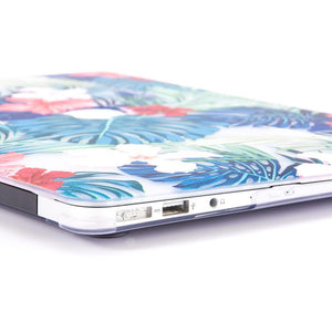Macbook Protective Package [A1370/A1465] MacBook Air 11' / Gradient Keypad - Blue MacBook Case Protective Screen Package - Floral Safari