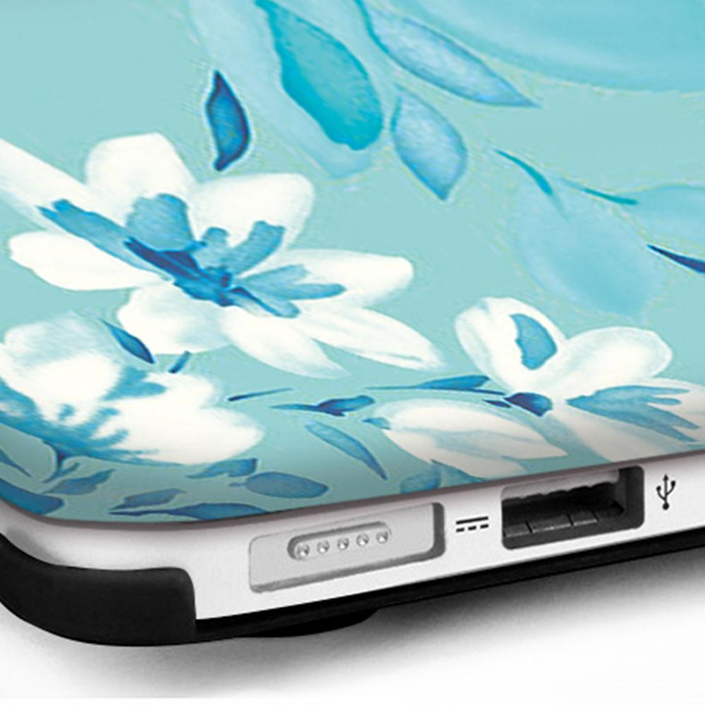 MacBook Case - Turquoise Blossoms - Slick Case