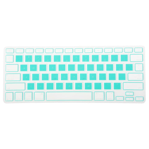 Turquoise Blue Colorblock MacBook Keypad