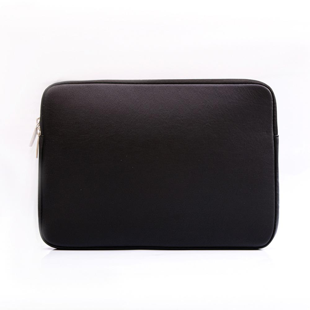 Best MacBook Sleeve - MacBook Sleeve - Spill-Proof Leather Zip Bag in Black Laptop 12'