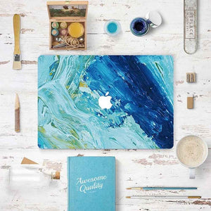 MacBook Decal - Blue Abstract Paint | Slick Case