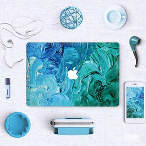 Macbook Decal [A1370/A1465] MacBook Air 11' MacBook Decal - Aqua Swirl
