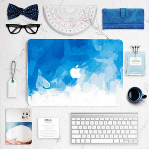 MacBook Decal - Blue Strokes