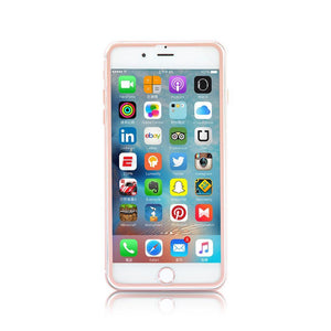 Rose Gold Metallic Edge HD Protector Glass - Slick Case
