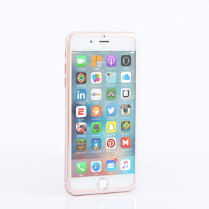 Rose Gold Metallic Edge HD Protector Glass