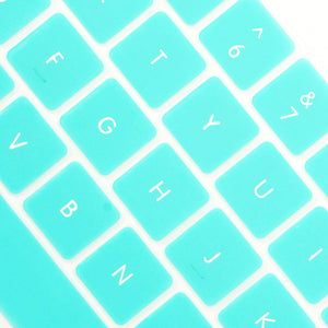 Multi-Color Macbook Keypads - Turquoise Blue - Slick Case
