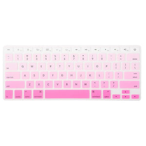 Macbook Protective Package [A1370/A1465] MacBook Air 11' / Gradient Keypad - Pink MacBook Case Protective Screen Package - Rainbow Mist