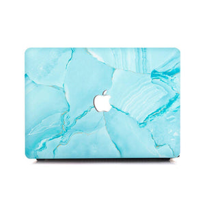 MacBook Case Protective Screen Package - Turquoise Marble - Slick Case