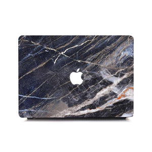 Macbook Protective Package [A1370/A1465] MacBook Air 11' / Multi-Color Macbook Keypads - Carbon Black MacBook Case Protective Screen Package - Shred Marble