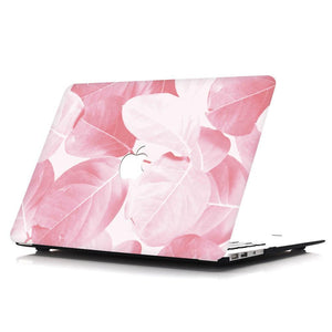 Macbook Protective Package [A1370/A1465] MacBook Air 11' / Gradient Keypad - Pink MacBook Case Protective Screen Package - Hazel Leaf