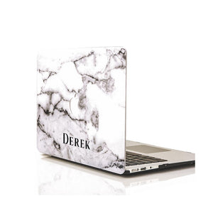Custom MacBook Case - Grey Marble