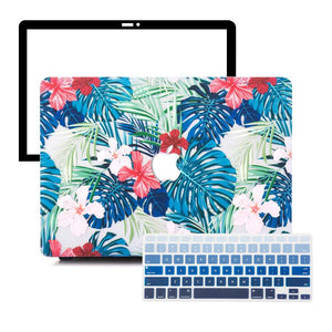 MacBook Case Protective Screen Package - Floral Safari - Slick Case