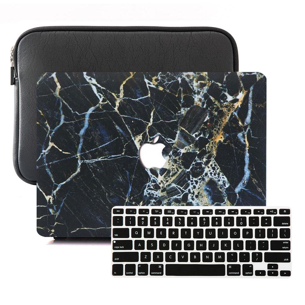 Best Macbook Sleeve Package - MacBook Case Sleeve Package - Gold Streak Marble