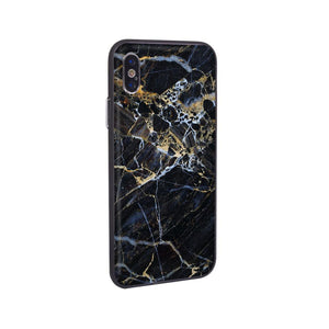 Graphic iPhone Case iPhone Case - Gold Streak Marble