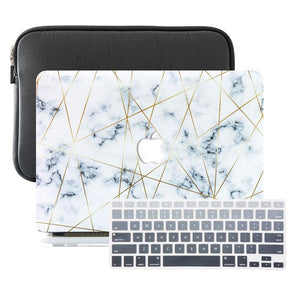 Macbook Sleeve Package MacBook Case Sleeve Package - Golden Geometric Marble