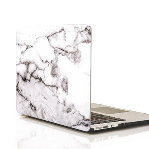 MacBook Case Protective Screen Package - Grey Marble - Slick Case