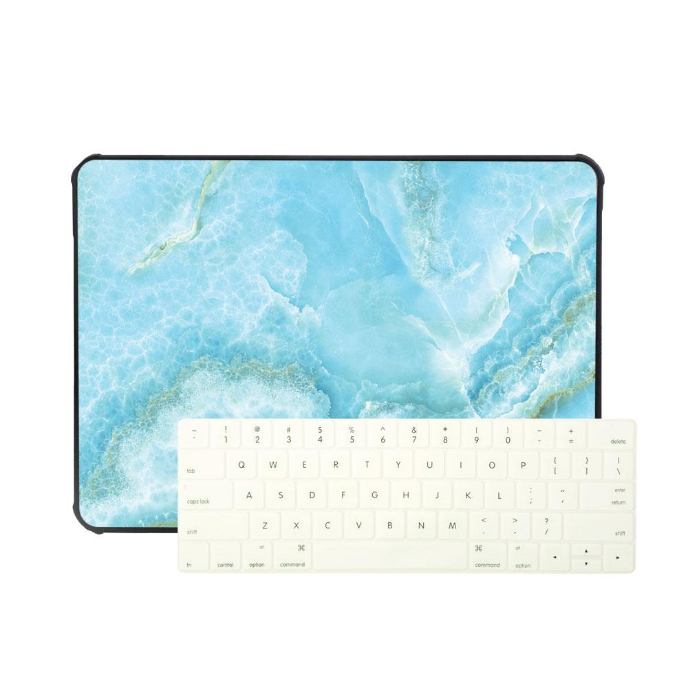 Best Laptop Leather Sleeve Package - Laptop Leather Sleeve Package - Turquoise Shredded Marble