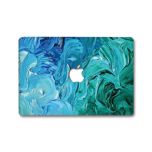 MacBook Decal - Aqua Swirl | Slick Case