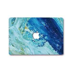 Macbook Decal [A1370/A1465] MacBook Air 11' MacBook Decal - Blue Abstract Paint