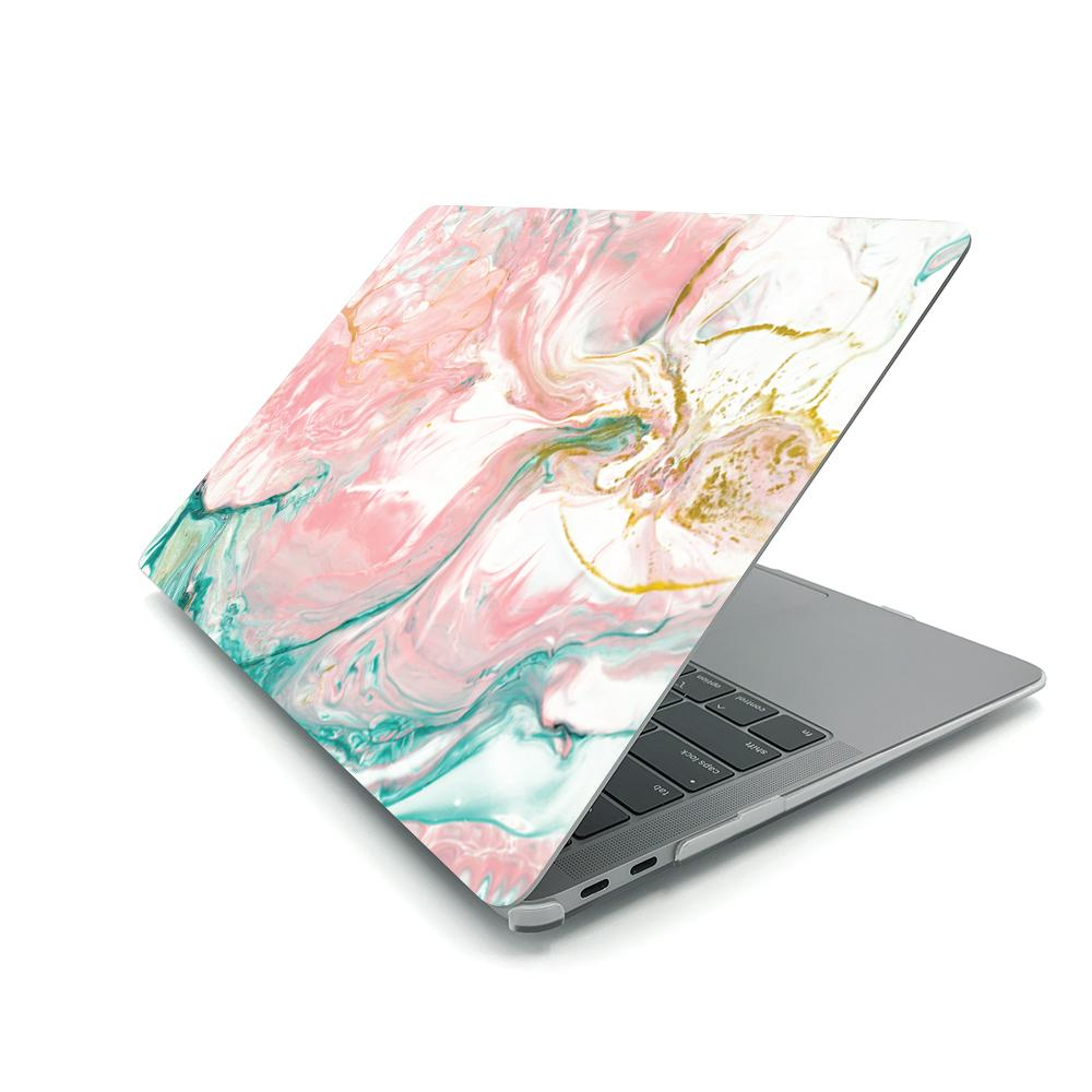 Best Macbook Case - MacBook Case - Abstract Pink Turquoise Paint