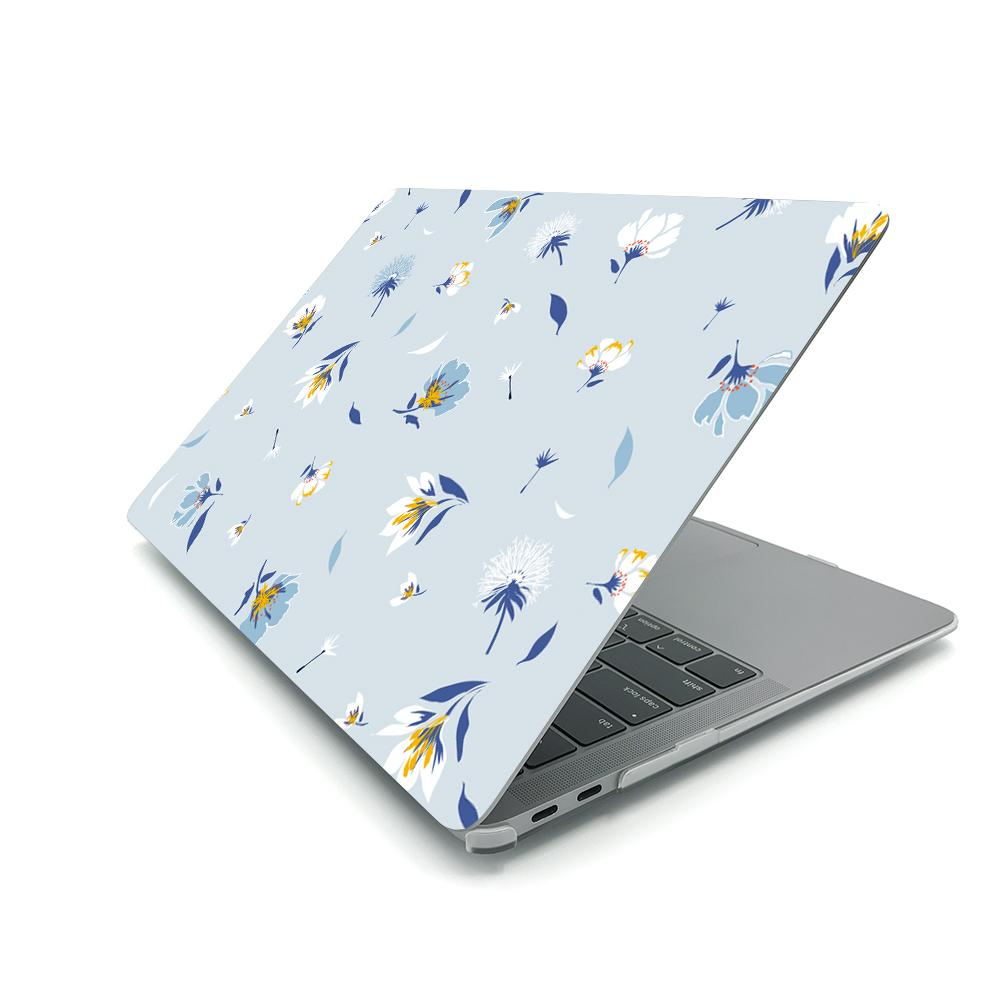 Best Macbook Case - MacBook Case - Baby Blue Floral Blossom