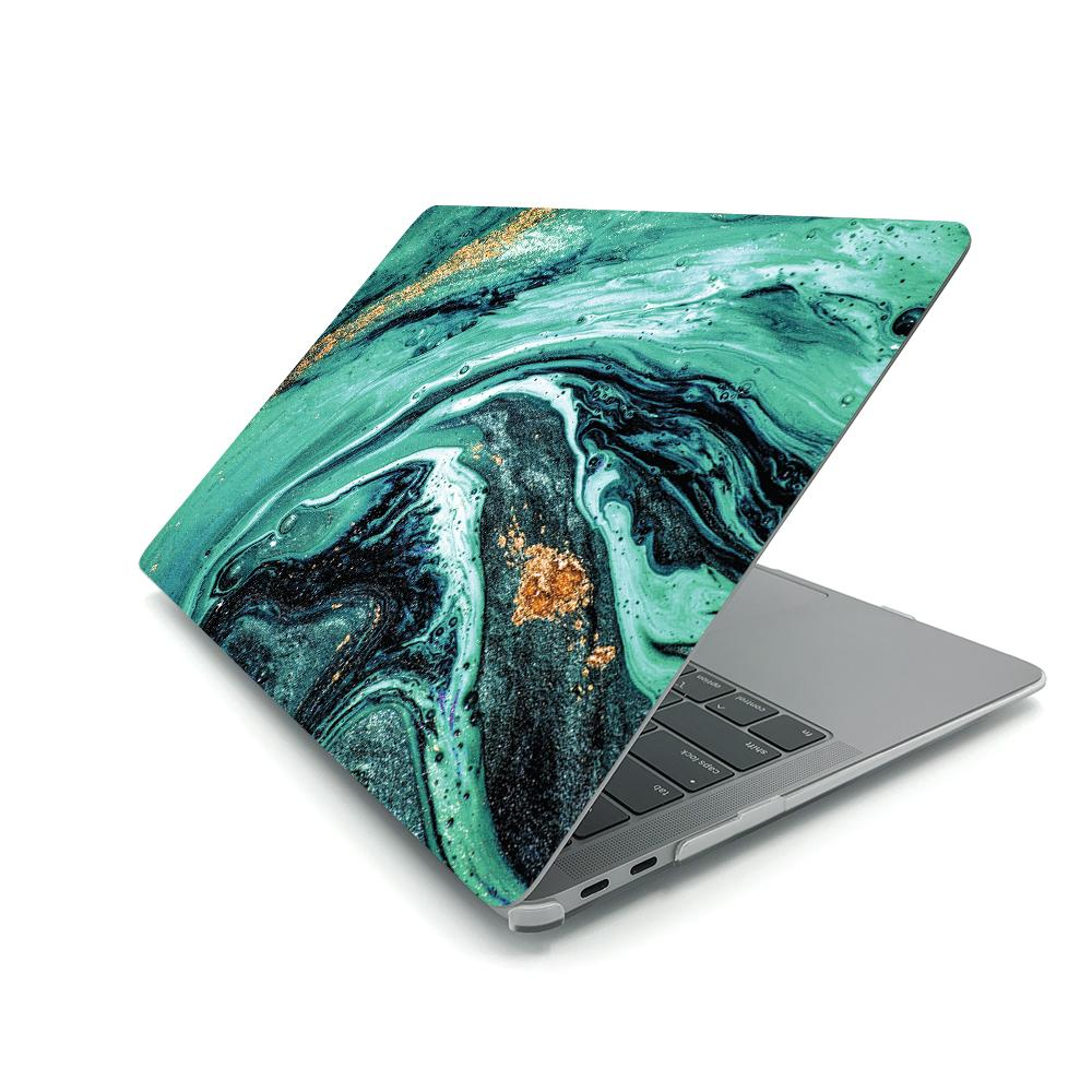 Best Macbook Case - MacBook Case - Emerald Glitter Marble