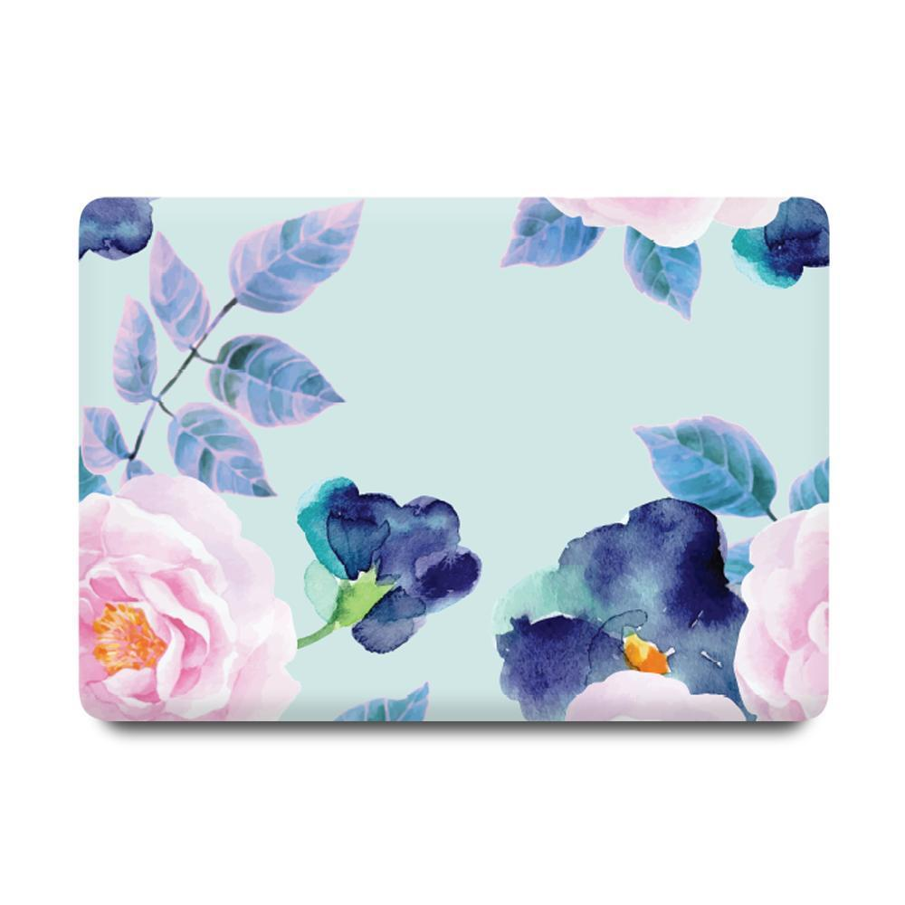Best Macbook Protective Package - MacBook Case Protective Screen Package - Floral Paradise [A2141] New MacBook Pro 16' 2019 / Gradient Keypad - Blue
