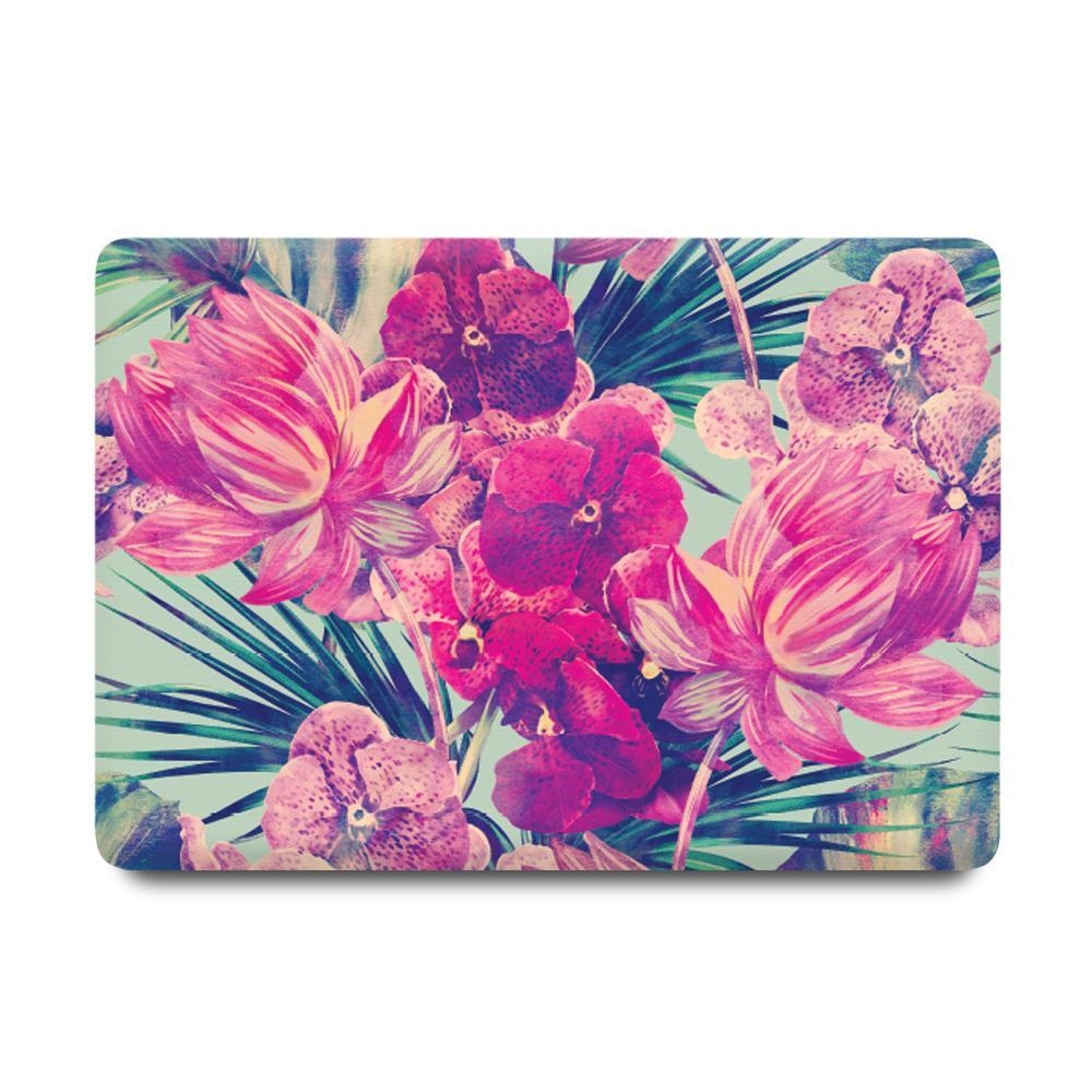 Best Macbook Discount Package - MacBook & iPhone Case Package - Florid Garden [A2141] New MacBook Pro 16' 2019 / iPhone XS / Gradient Keypad - Pink