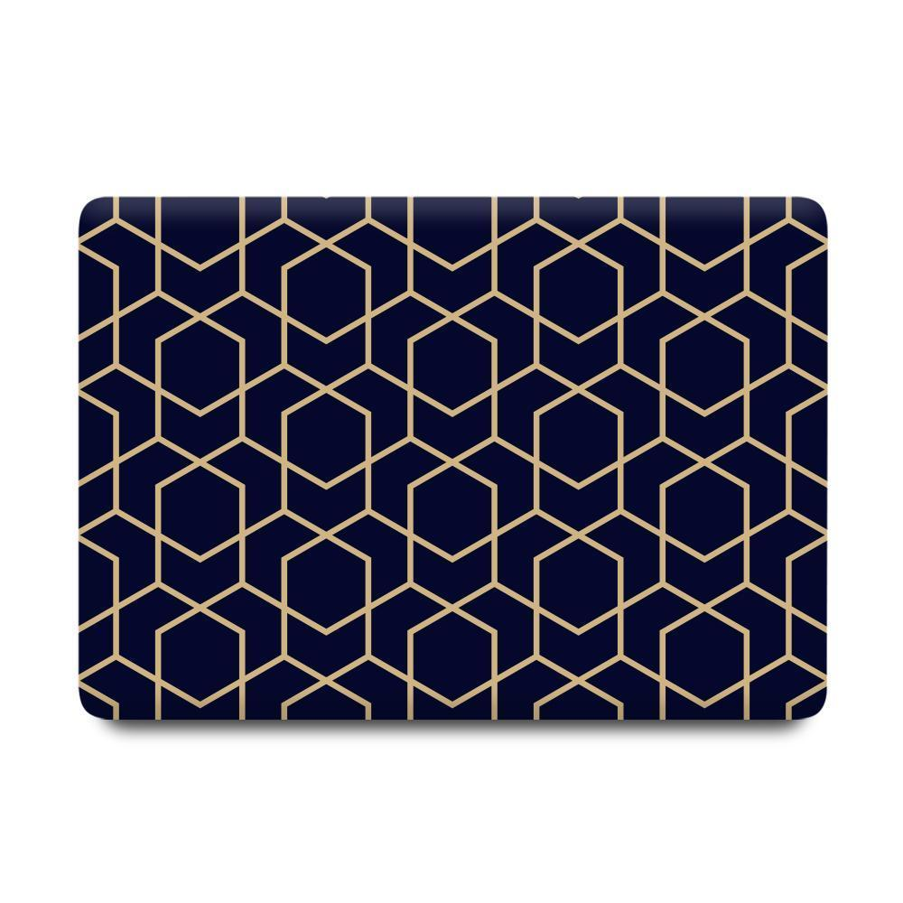 Best Macbook Discount Package - Macbook & iPhone Case Package - Gold Metro Geometric [A2141] New MacBook Pro 16' 2019 / iPhone 7/8 / Multi-Color MacBook Keypads - Carbon Black