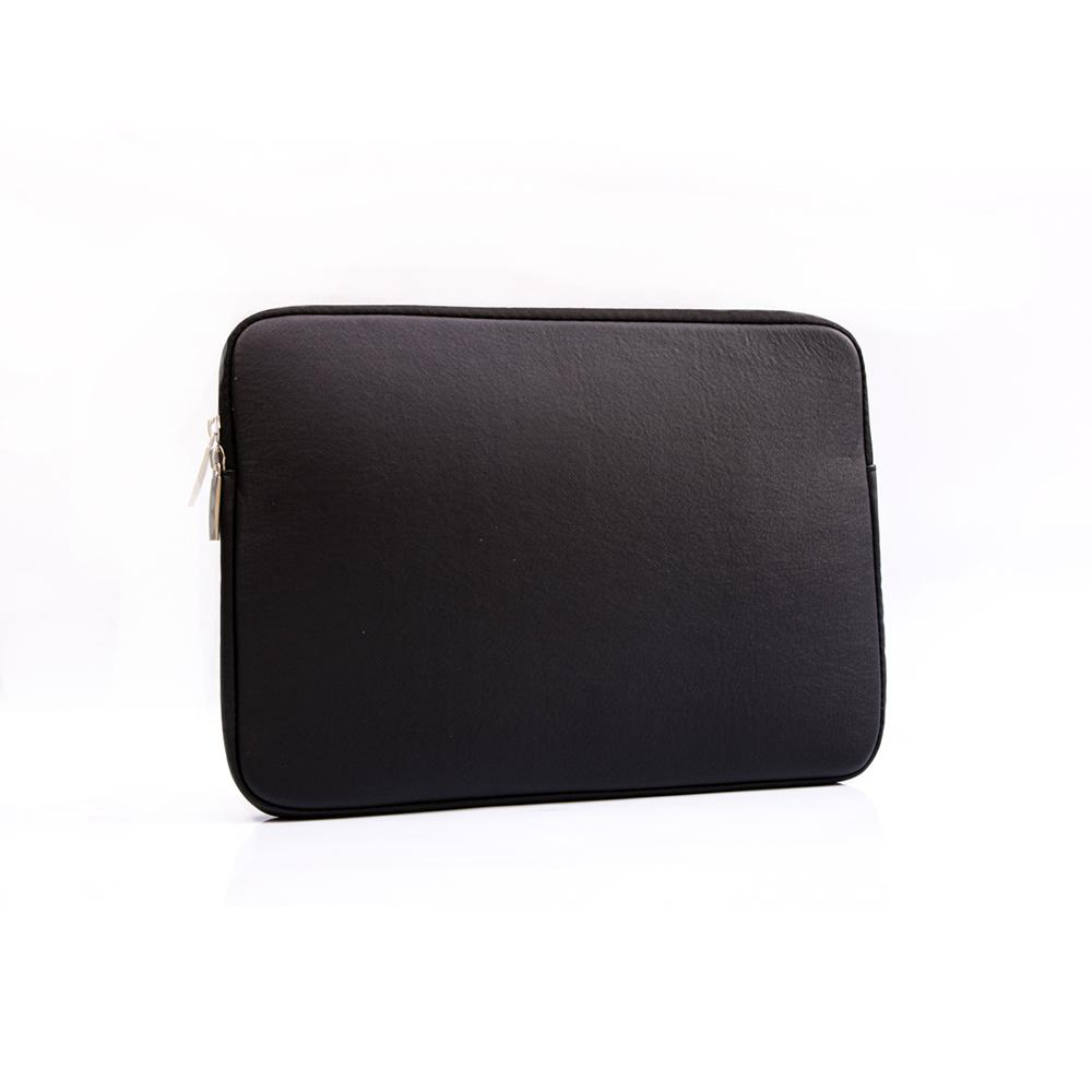 Best MacBook Sleeve - MacBook Sleeve - Spill-Proof Leather Zip Bag in Black