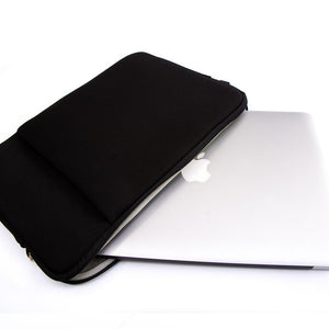 MacBook Sleeve Laptop 11' MacBook Sleeve - Plain Zip Bag with Side Accessory Pockets in Black