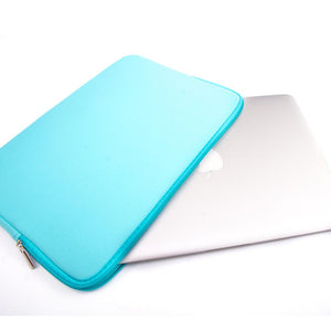 MacBook Sleeve Laptop 11' MacBook Sleeve - Padded Sponge-lined Zip Bag in Turquoise Blue