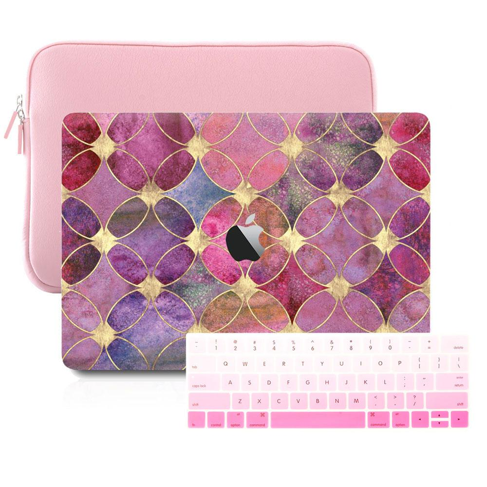 Macbook Sleeve Package Macbook Case Sleeve Package - Circular Dyed Tiles