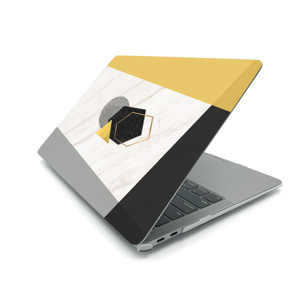 Best Macbook Case - MacBook Case - Gravitational Geometrics in Metallic Gold